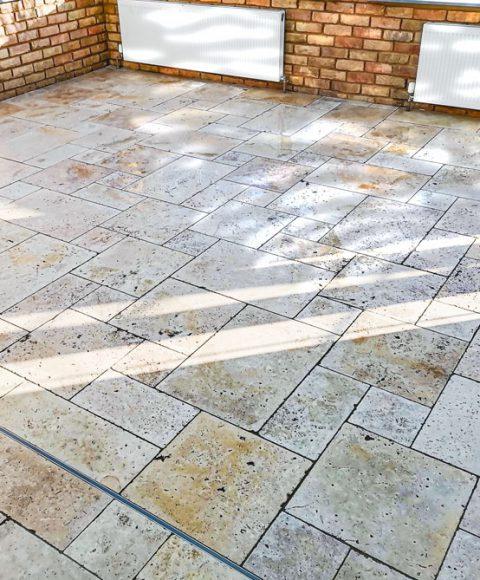 Stone floor tiling in Sittingbourne